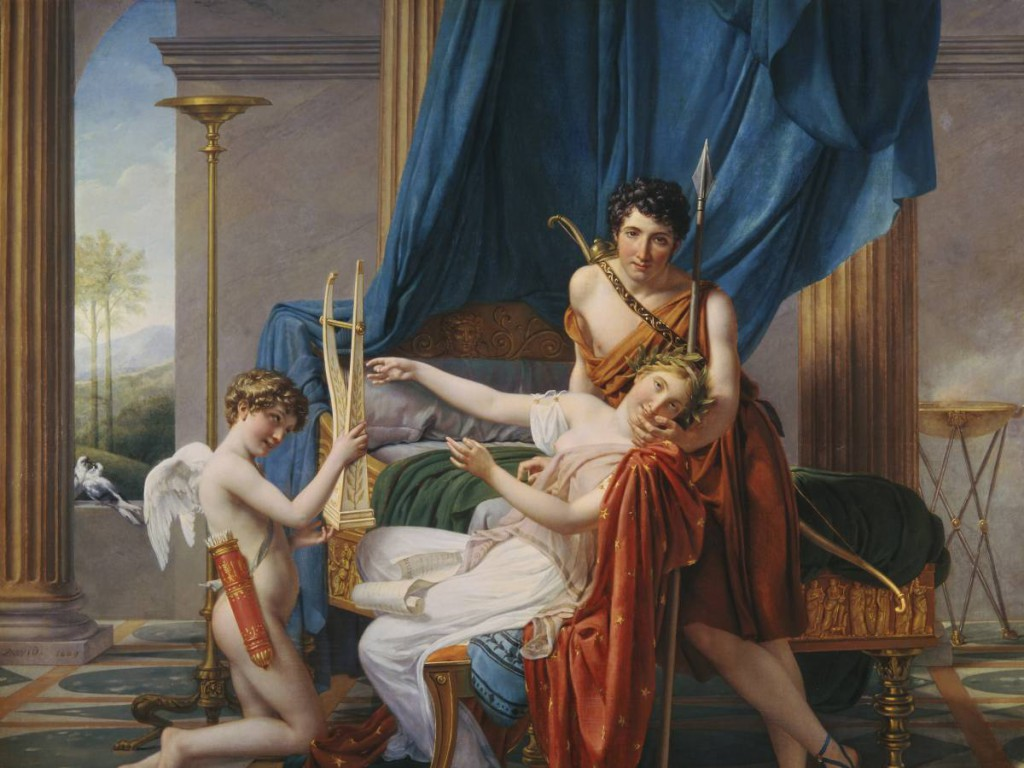 The Poet Sappho And Her Lovers