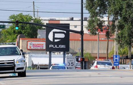 ORLANDO, FLORIDA - JUNE 12: A view of Pulse nightclub after a fatal shooting and hostage situation on June 12, 2016 in Orlando, Florida. The suspect was shot and killed by police after 20 people died and 42 were injured. Gerardo Mora/Getty Images/AFP == FOR NEWSPAPERS, INTERNET, TELCOS & TELEVISION USE ONLY ==